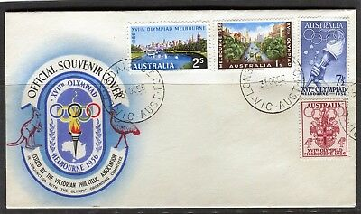 1956 Melbourne Olympics Set Of 4 Unaddressed First Day Cover, Mint Condition