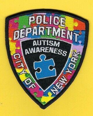 New York City Police Department Autism Awareness Patch ~ Awesome ~ L@@k
