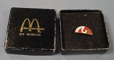 McDonald's 6 Months Service Pin in Box.
