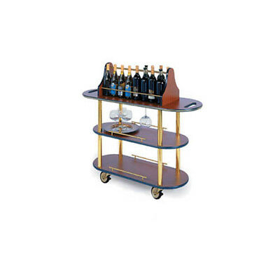 """Lakeside 37207 16""""Dx42-1/2""""Wx47-1/4""""H Oval 3-Tier Wine Cart"""
