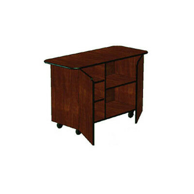 """Lakeside 68205 25-1/2""""Dx57-1/2""""Wx36-3/4""""H Solid Wood Enclosed Service Cart"""