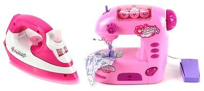 VT Magical Family Pretend Play Toy Sewing Machine & Clothing Iron Deluxe Combo