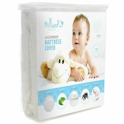 MILLIARD Quilted, Waterproof Crib  Toddler Mattress Protector Pad, Premium