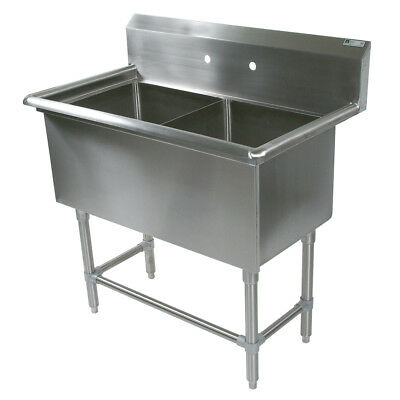 """John Boos 2PB244 2 Compartment 24"""" x 24"""" Stainless Steel Pro-Bowl Sink"""