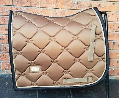 Equestrian Stockholm Golden Brass Saddle Pad
