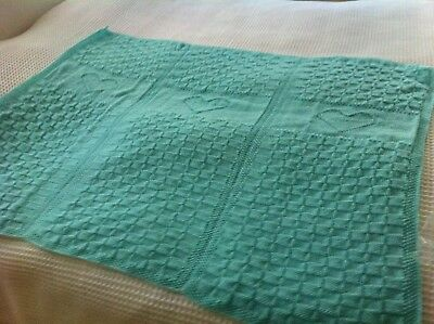 Hand knitted baby blanket cot size