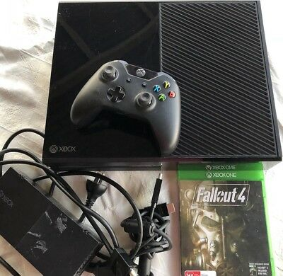 Microsoft Xbox One Console 500GB Plus Fallout 4 Game, Controller & Leads Bundle