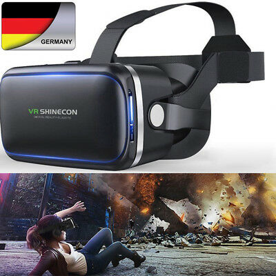 3D Virtual Reality VR Kopfhörer Video Brille Box für iOS iPhone X 7 8 P Android