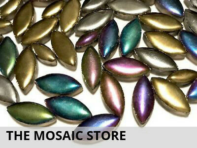 Metallic Mixed Ceramic Petals - Mosaic Tiles Supplies Art Craft