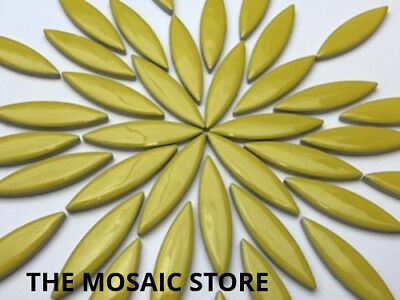 XL Yellow Ceramic Petals - Mosaic Art & Craft Supplies Tiles