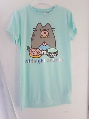 Primark Pusheen girls womens donut T shirt nightie nightdress pyjamas 7-15 years