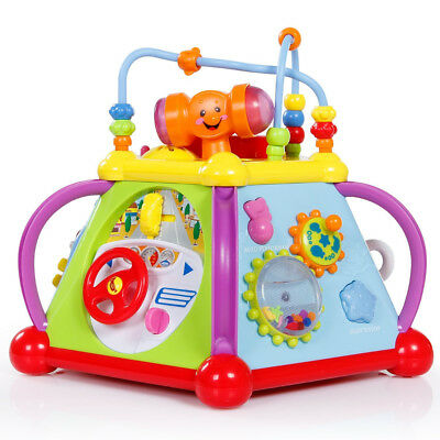 SGILE Multifunctional Musical Activity Cube Play Center with Light and Sound Toy