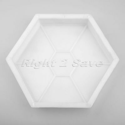 Hexagon Paving Brick Mold Patio Concrete Garden Walk Path Maker Mould Paver 1pc
