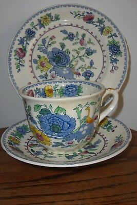 """Masons Regency C4475  Breakfast Set, large cup,saucer and 8"""" plate,VG"""
