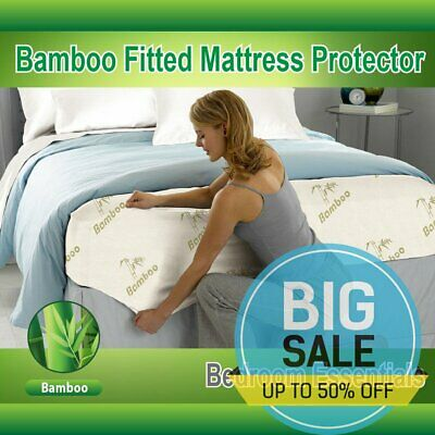 Mattress Protector Waterproof Bamboo Soft Hypoallergenic Fitted Mattress Cover*2