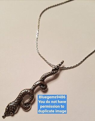 LAST SALE!! Alex and Ani Serpent Necklace Russian Silver - Extremely Rare