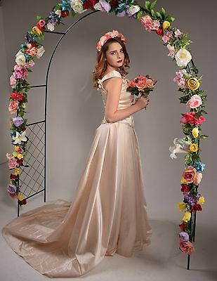 Champagne Rose Sweetheart Vintage Two Piece Wedding Gown - Size 10