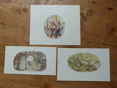Retro Brambly Hedge Book Plates/ Illustration Print - High Hills Pictures x3