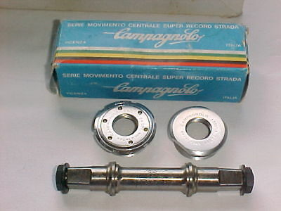 "Vintage Campagnolo Super Record Bottom Bracket. 1,370"" X 24 Tpi NOS"