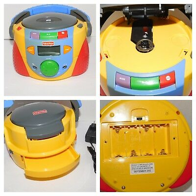 Fisher Price Portable Disc CD Player Tuff Stuff Kid Tough Stereo REPAIR or PARTS