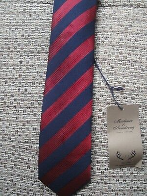 Mortimer & Armstrong Striped Silk Tie - Bnwt