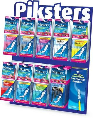 Piksters Interdental Brushes - 10 Pack, Brand New and All Sizes Available