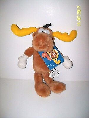 """NEW WITH TAG THE ADVENTURES OF ROCKY AND BULLWINKLE PLUSH 15/"""" TALL  BULLWINKLE"""