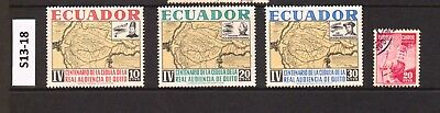 Ecuador - Stamps From An Old Collection (S13-18)