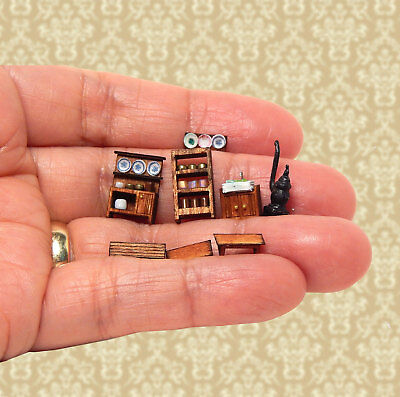 1/144th Scale Dollhouse Miniature Rustic Dining Furniture Set Detailed So Tiny!!