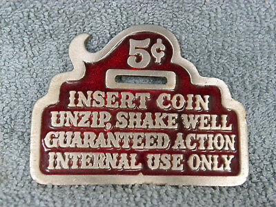 Great American Chicago Buckle Company-Insert 5 cent Belt Buckle-1979- Rare -EB46