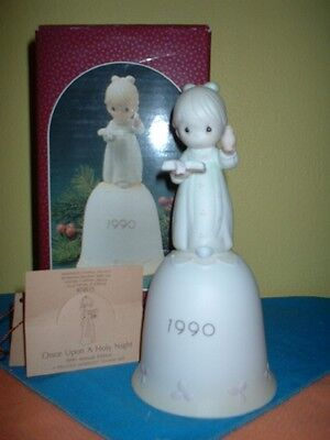 PRECIOUS MOMENTS  ONCE UPON A HOLY NIGHT #523828  BELL  1st LIMITED EDITION  NEW