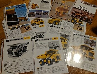 1960's and 1970's Caterpillar Literature Off Road Truck 769 773 777 779