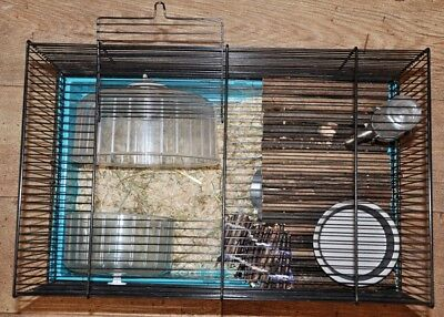 Hamster cage with accessories, clean, Manchester