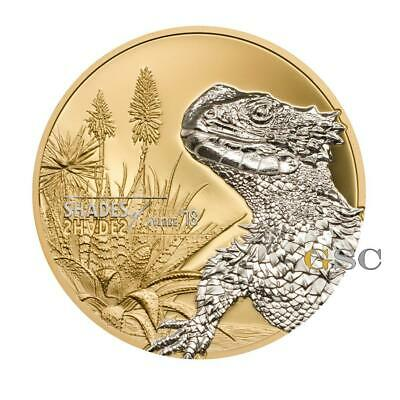 Cook Islands 2018 5$ Sungazer Lizard Shades of Nature silver coin