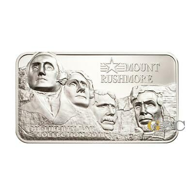 Mount Rushmore US Presidents 2oz .999 10$ silver coin Cook Islands 2018