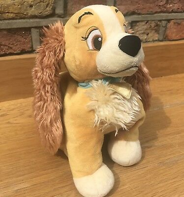 Disney Store Lady And The Tramp-  Plush Soft Toy STAMPED Super Soft Dog