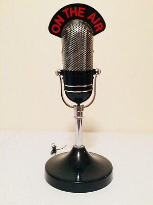 """Vintage Old On The Air Microphone Style Antique Transistor Radio """"light Up"""""""
