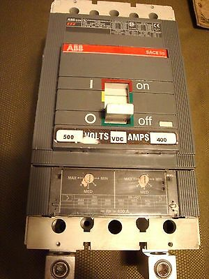 ABB Model S5N 400 Amp Circuit Breaker. 500v. 2 Pole. Tested, Guaranteed.
