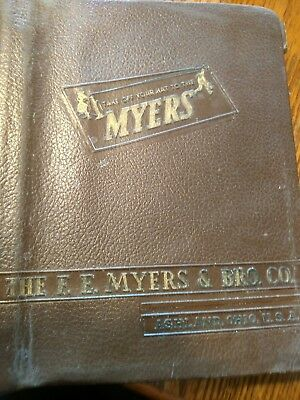 Vintage F. E. Myers & Bro. Co. leather bound catalog, service and parts Manual,,