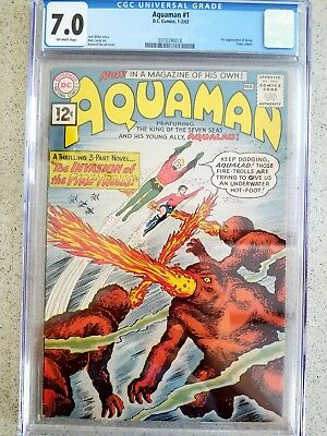 Aquaman #1 1962  CGC 7.0  Key Issue!  First in the series.  REDUCED PRICE!!!