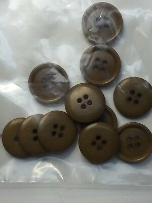 Lot of 12 Vegetable Ivory Tagua Nut Sewing Clothing Buttons