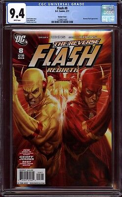 Flash Rebirth #8 Cgc 9.4 Nm Artgerm Stanley Lau Variant Rare Only 5 Graded Dc