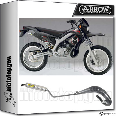 Arrow Hom Full Exhaust Slip-On Round Titanium Malaguti Xtm 50 2004 04