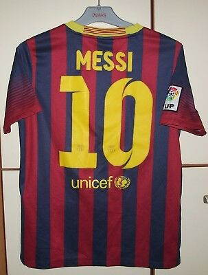 f5ee69455 Fc Barcelona 2013 2014 Home Football Shirt Jersey Camiseta  10 Messi Youth  Xl