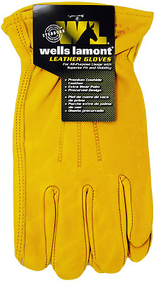 Wells Lamont Premium Cowhide Leather Work Gloves  Med ,Large or XL