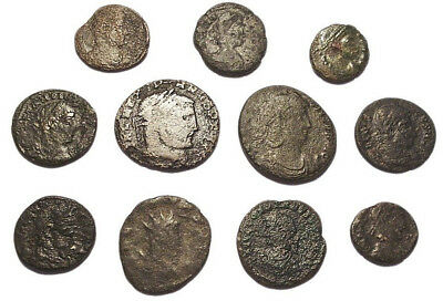 Lot of 11 Æ2-4 Ancient Roman Bronze Coins