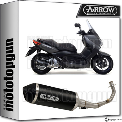 Arrow Hom Full Exhaust Slip-On Urban Alu Dark Ec Black Yamaha X-Max 250 2012 12