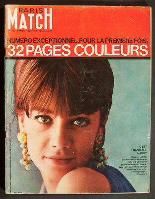 'paris-Match' French Vintage Magazine Francoise Hardy Cover 30 March 1963