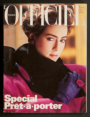 'l'officiel' French Magazine Winter Pret A Porter Issue August 1984