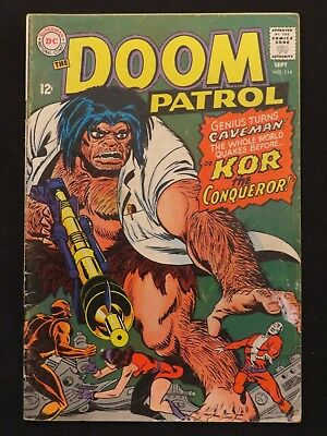 DC Comics The Doom Patrol #114 1967 Very Good